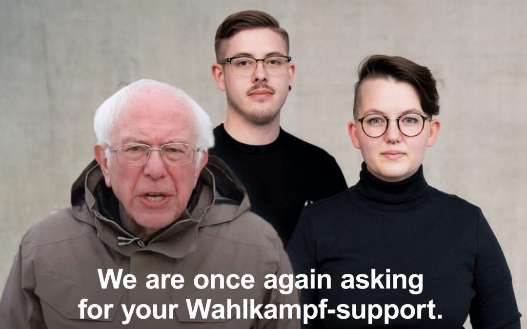 Wahlkampfhelfer*innen gesucht!